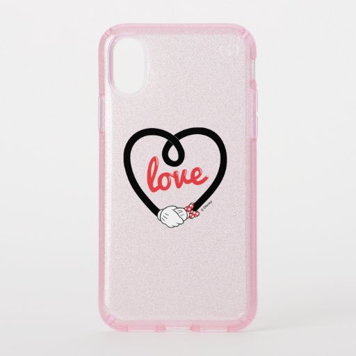 Mickey & Minnie | Heart Love Speck iPhone XS Case