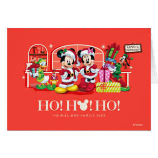 Mickey & Minnie | Ho Ho Ho Card