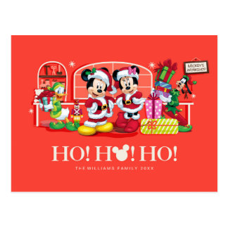 Mickey & Minnie | Ho Ho Ho Postcard
