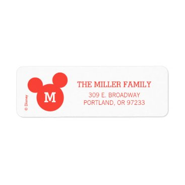Disney Themed Mickey & Minnie | Ho Ho Ho Red Icon with Monogram Label