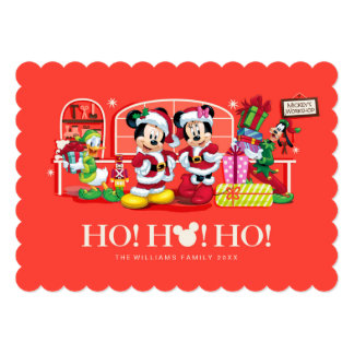 Mickey & Minnie | Ho Ho Ho with Photos Card