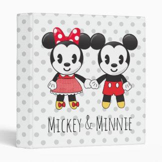 Mickey & Minnie Holding Hands Emoji 3 Ring Binder