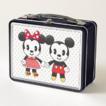 """Mickey &amp; Minnie Holding Hands Emoji Metal Lunch Box<br><div class=""""desc"""">Express yourself with this super cute Mickey &amp; Minnie Holding Hands Emoji</div>"""