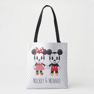 Mickey & Minnie Holding Hands Emoji Tote Bag