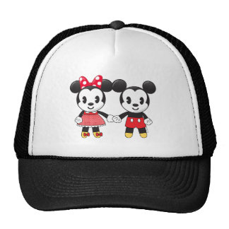 Mickey & Minnie Holding Hands Emoji Trucker Hat