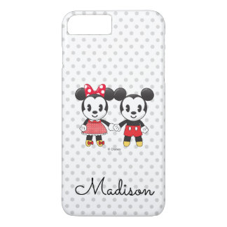 Mickey & Minnie Holding Hands Emoji | Your Name iPhone 8 Plus/7 Plus Case