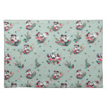 Mickey & Minnie   Holiday Kisses Pattern Cloth Placemat