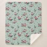 Mickey & Minnie | Holiday Kisses Pattern Sherpa Blanket