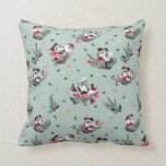 Mickey & Minnie | Holiday Kisses Pattern Throw Pillow
