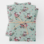 Mickey & Minnie | Holiday Kisses Pattern Wrapping Paper Sheets