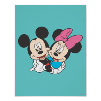 Mickey & Minnie | Hugging Poster