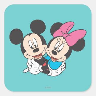 Mickey & Minnie | Hugging Square Sticker