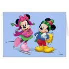 Mickey & Minnie Ice Skating Card