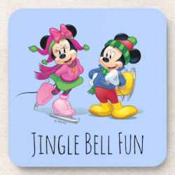 Beverage Coaster with Disney Christmas Ornaments design