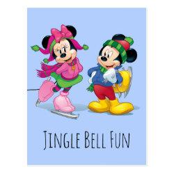 Postcard with Disney Christmas Ornaments design