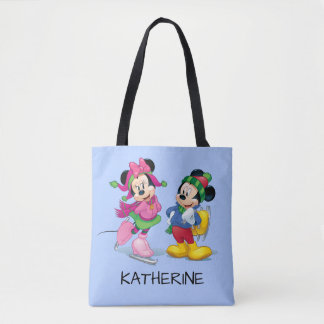 Mickey & Minnie Ice Skating Tote Bag