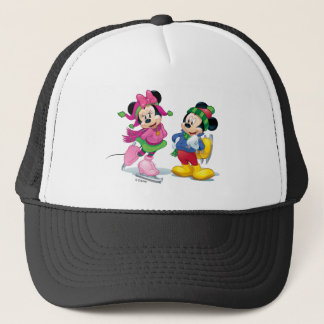 Mickey & Minnie Ice Skating Trucker Hat