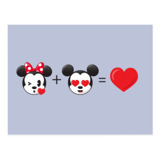 Mickey & Minnie | In Love Postcard