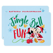 Mickey & Minnie | Jingle Bell Fun Card