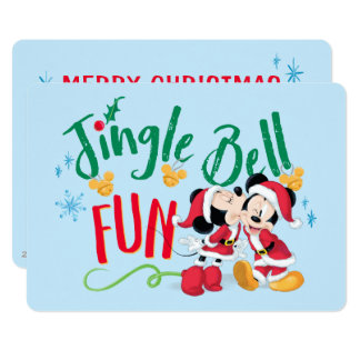 Mickey & Minnie | Jingle Bell Fun Card
