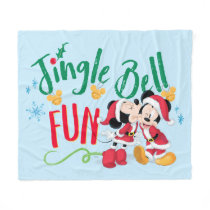 Mickey & Minnie | Jingle Bell Fun Fleece Blanket