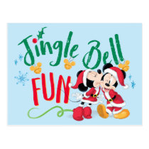 Mickey & Minnie | Jingle Bell Fun Postcard