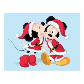 Mickey & Minnie | Jingle Bell Fun Postcard