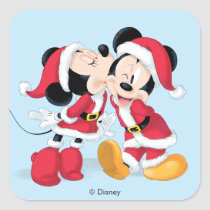 Mickey & Minnie | Jingle Bell Fun Square Sticker