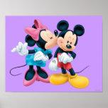 Mickey & Minnie | Kiss on Cheek Poster
