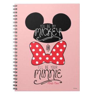 Mickey & Minnie | Love Spiral Notebook