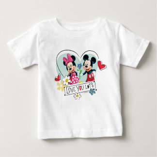 Mickey & Minnie | Love you Lots Baby T-Shirt
