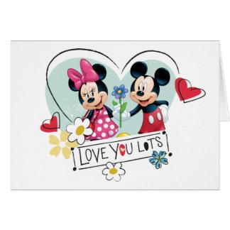 Mickey & Minnie | Love you Lots Card