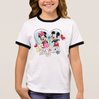 Mickey & Minnie | Love you Lots Ringer T-Shirt