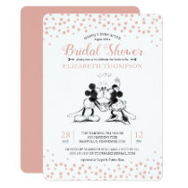 Mickey & Minnie | Pink Confetti Bridal Shower Invitation