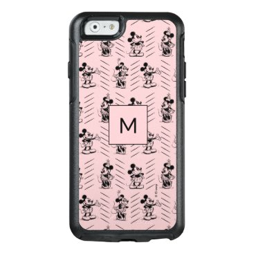 Mickey & Minnie   Sketch Pattern - Monogram OtterBox iPhone 6/6s Case