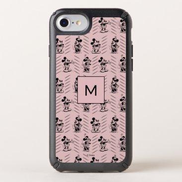 Mickey & Minnie   Sketch Pattern - Monogram Speck iPhone Case