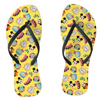 Mickey & Minnie | Super Hero Pop Pattern Flip Flops
