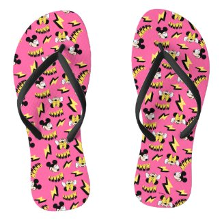 Mickey & Minnie | Super Hero Power Pattern Flip Flops