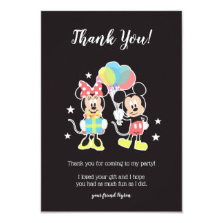 Mickey & Minnie | Time to Party - Thank You Card