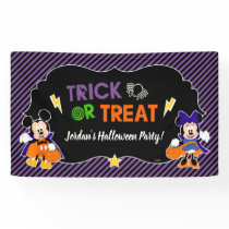 Mickey & Minnie | Trick or Treat - Halloween Party Banner