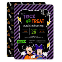 Mickey & Minnie | Trick or Treat - Halloween Party Invitation