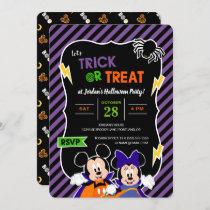 Mickey & Minnie   Trick or Treat - Halloween Party Invitation