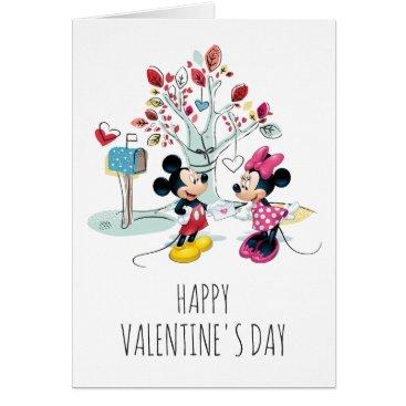 MickeyAndFriends Mickey & Minnie   Valentine's Day Card