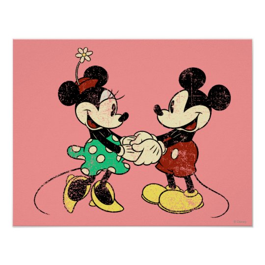 Mickey Minnie Vintage Poster Zazzle Com