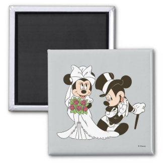 Mickey & Minnie Wedding | Getting Married 2 Inch Square Magnet