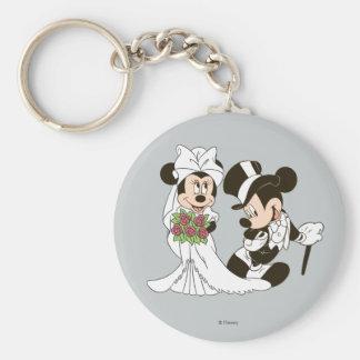 Mickey & Minnie Wedding | Getting Married Basic Round Button Keychain