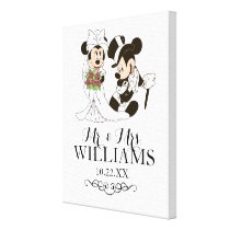 Mickey & Minnie Wedding | Getting Married Canvas Print