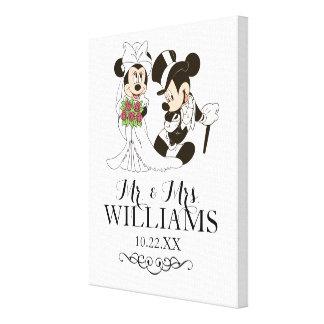 Mickey & Minnie Wedding | Getting Married Canvas Print