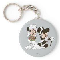 Mickey & Minnie Wedding   Getting Married Keychain