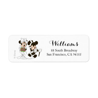 Mickey & Minnie Wedding | Getting Married Label